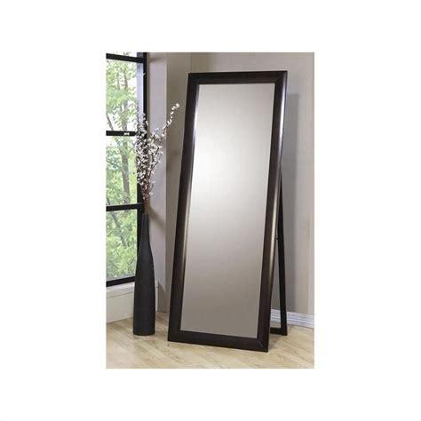 Floor Standing Mirrors by Standing Floor Mirror In Cappuccino Finish