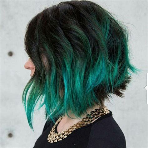 ombre colored hair cut in a line bob 30 short hairstyles to rock this summer popular haircuts