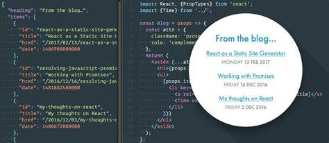 React As A Static Site Generator David Bushell Web Design Uk React Component Template