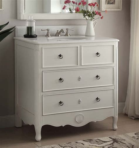 Bathroom Vanities 4 Less by 34 Inch Bathroom Vanity Cottage Style Vintage White