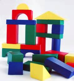 colored blocks your architect will building bridges towers