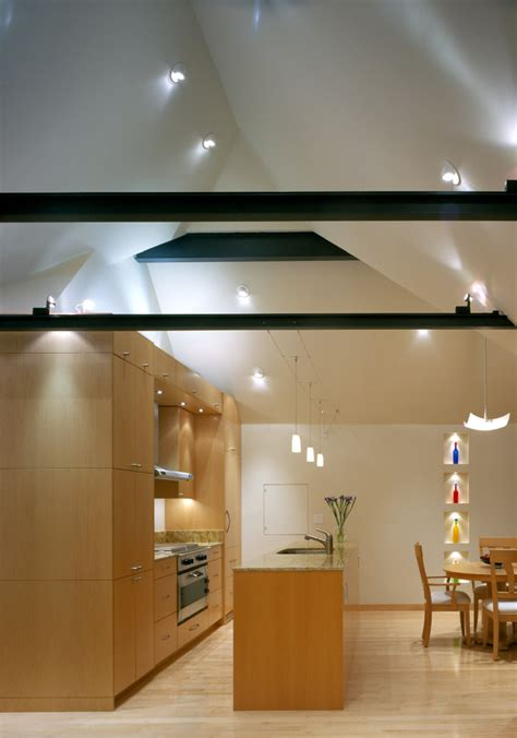 Vaulted Ceiling Light Vaulted Ceiling Lighting Kitchen Contemporary With Eat In Kitchen Exposed Beeyoutifullife