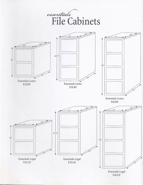 File Cabinet Ideas Efficient Workspace Standard Template Lateral Filing Cabinet Dimensions