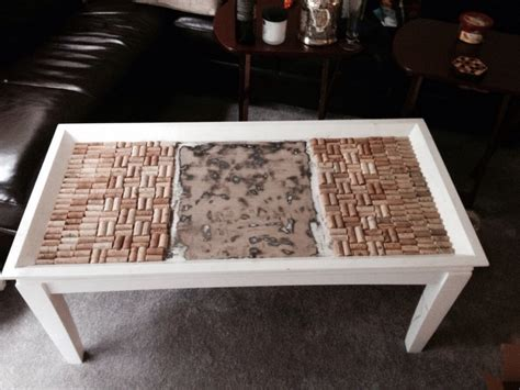 Wine Cork Coffee Table A Wine Cork Coffee Table What Should I Put In The Center Diy