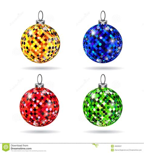 Colorful Baubles by Set Of Colorful Baubles Stock Illustration Image 46829537
