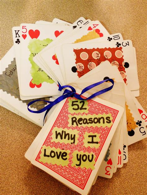 Paper Crafts For Boyfriend - quot 52 reasons why i you quot interesting ideas