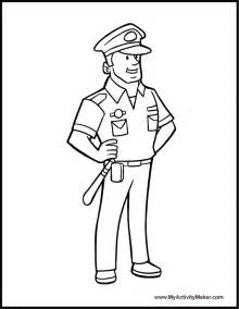 Policeman Coloring Page  AZ Pages sketch template