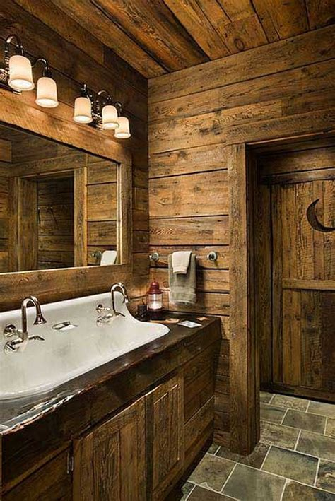 Cabin Bathrooms Ideas by 25 Rustic Bathroom Decor Ideas For World