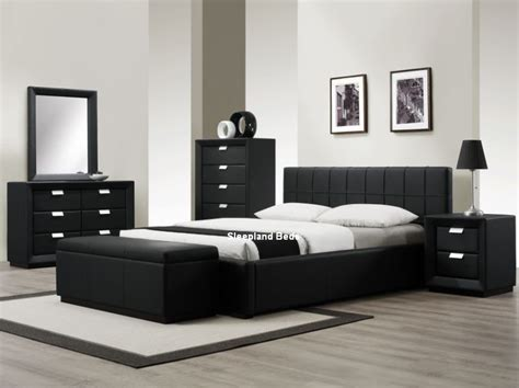black leather bedroom sets bedroom contemporary black bedroom furniture black