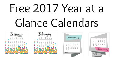 year at a glance calendar template musings of an average 2017 year at a glance calendars