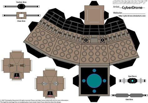 Dalek Papercraft - cubee dalek ww2 by cyberdrone on deviantart