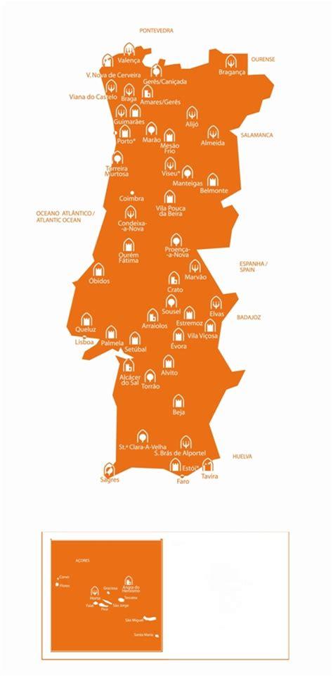 portugal pousadas map portugal gt pousadas gt accommodation gt names and
