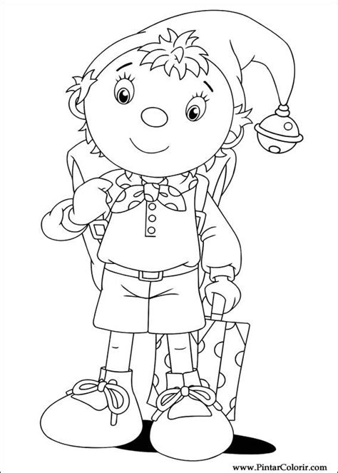 noddy coloring pages games drawings to paint colour noddy print design 013