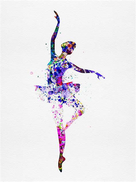 Best Home Decor And Design Blogs by Ballerina Dancing Watercolor 2 Painting By Naxart Studio