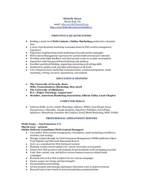 Resume Computer Skills Social Media Marketing Communications Analyst Resume Cv
