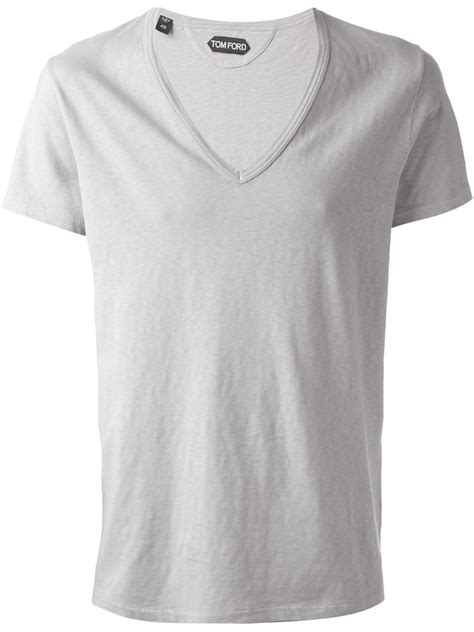 Tom Ford T Shirt by Lyst Tom Ford Vneck Tshirt In Gray For