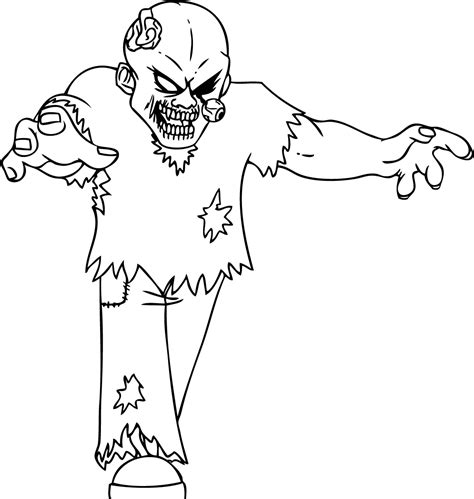Coloring Page Of A Zombie | free printable zombies coloring pages for kids