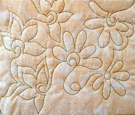 Free Motion Machine Quilting Designs by Free Motion Quilting With Flowers Quiltsocial