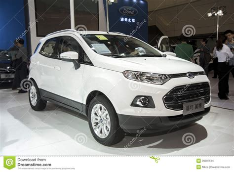 Topi Ford White Ford New Ford Escape Ford New Everest Ford Rang white ford ecosport car editorial stock image image 39807514