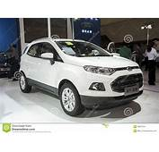 White Ford Ecosport Car Editorial Stock Image Of