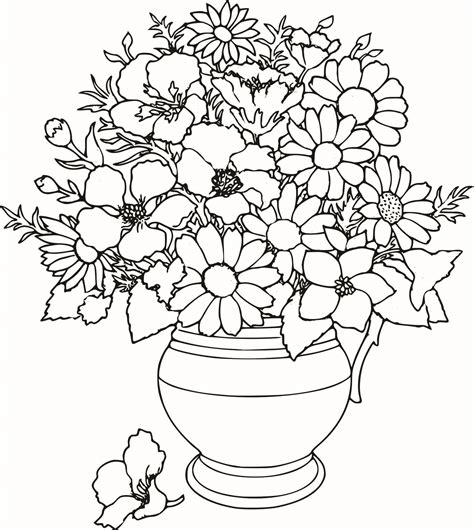 free beautifull flower coloring pages coloring pages