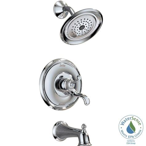 Delta Shower Faucets With Sprays by Delta Vessona Single Handle 1 Spray Tub And Shower Faucet