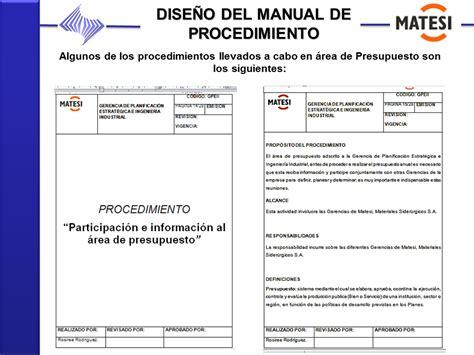 manual de procedimientos para adquisiciones manual de procedimientos elaboraci 243 n del presupuesto