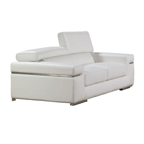 Modern Loveseat Emilia Sea Loveseat White Loveseats
