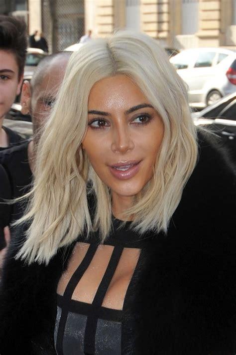 kimkardashian platnium blonde hair formula kim kardashian gets her platinum blonde hair touched up