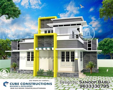 1250 sq ft beautiful simple home design 1250 sq ft double floor contemporary home designs