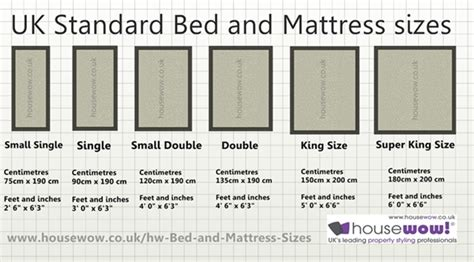 standard bed size uk bed and mattress sizes large diagram