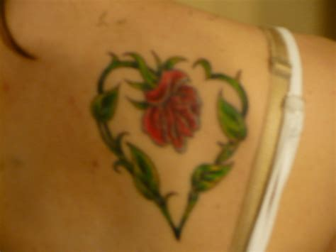 heart shaped rose tattoo shaped picture at checkoutmyink