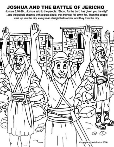coloring pages for joshua and the battle of jericho battle of jericho the battle and bible coloring pages on