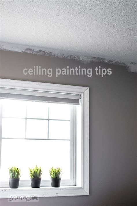 My Favorite Ceiling Painting Gear And Tipsfunky Junk Interiors Ceiling Paint Tips