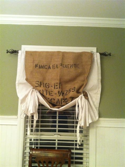 burlap coffee bag curtains pin by jenna ouano on home gameroom pinterest