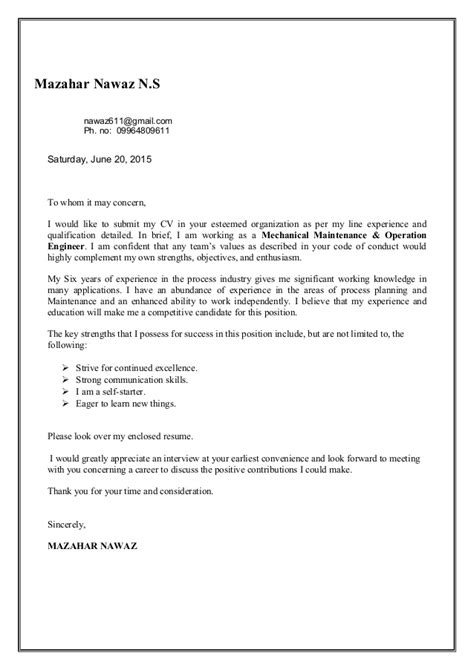 Hydraulic Mechanic Cover Letter by Service Engineer Resume