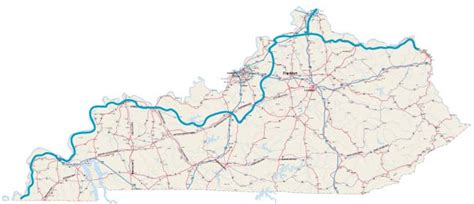 kentucky map with rivers and lakes ohio river kentucky map map