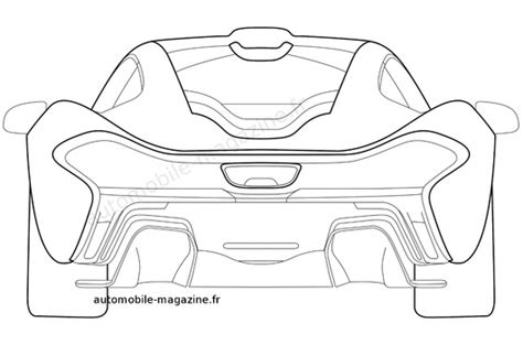 mclaren p1 drawing easy mclaren p1 coloring pages