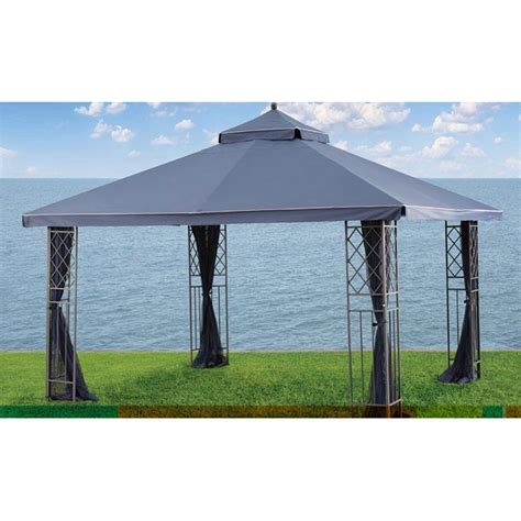 10x12 gazebo privacy curtain home outfitters gluckstein 10x12 replacement canopy garden
