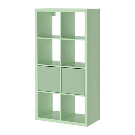 kallax dr 214 na shelving unit with 2 inserts light green ikea
