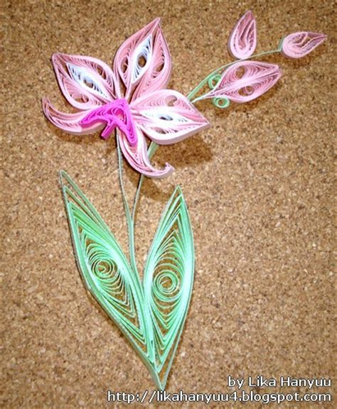 paper quilling orchid tutorial quilled orchids marcadores orqu 237 dea orchid quilling