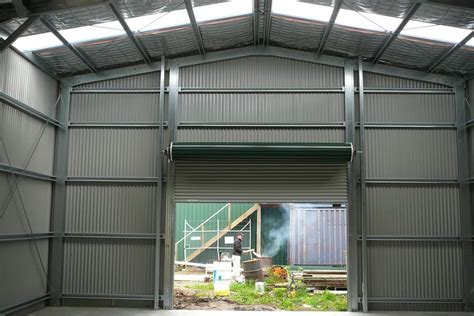 Shed Roller Door by Commercial Industrial Sheds Gallery The Shed Company