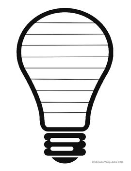 Light Bulb Shaped Book Template By The 3am Teacher Tpt Light Bulb Template Printable
