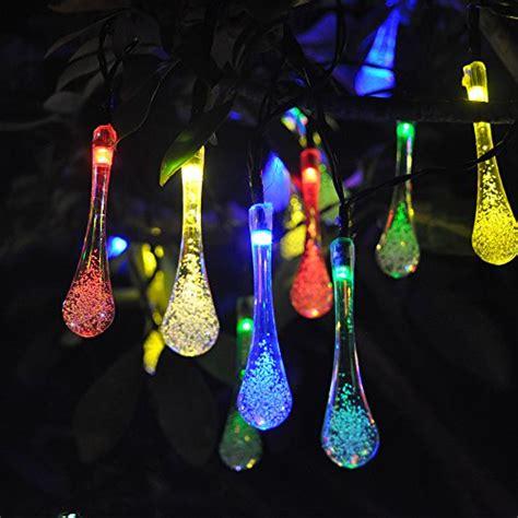 multi colored solar garden lights 20led multi colored solar outdoor decorative string lights