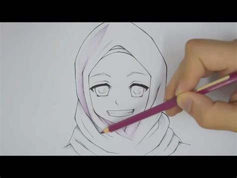 tutorial menggambar hinata how to draw manga muslim how to draw a cute ice cream with