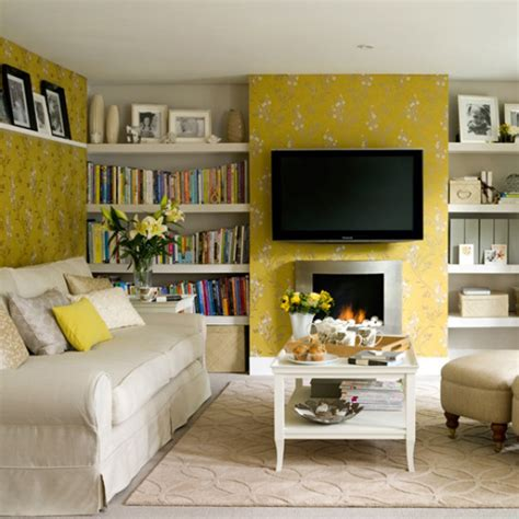 yellow livingroom sunny yellow living room design ideas interiorholic com