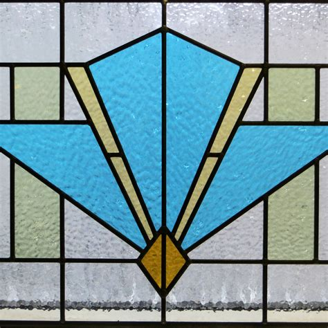 stained glass panels deco style stained glass panel from period home style