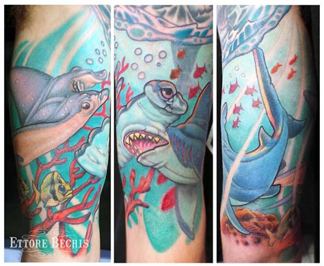deep sea tattoo sea by ettore bechis tattoos