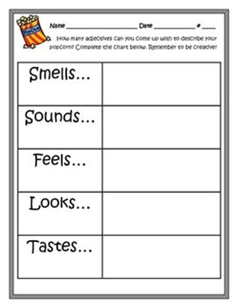 5 senses writing template a well language and classroom on