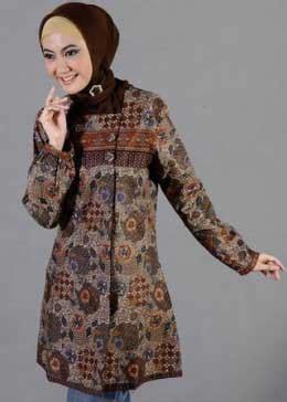 Atasan Blouse Sisca Tunik Kemeja Ma model baju batik muslim modern 4 remaja update remaja